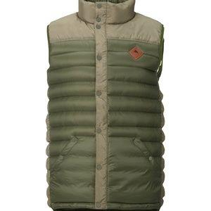 Burton Men's Evergreen Down Vest Dusty Olive Large